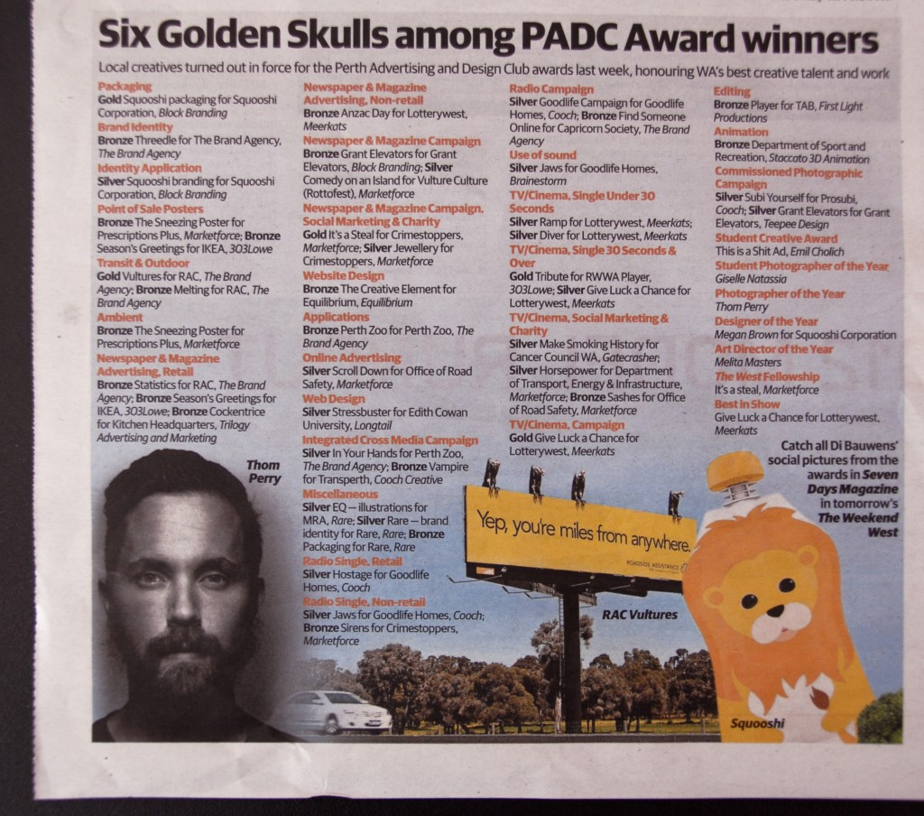 PADC Award Winners